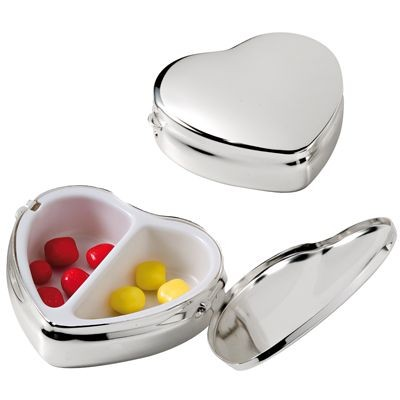Picture of HEART SILVER METAL PILL BOX