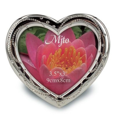 Picture of METAL HEART SHAPE PHOTO FRAME with Crystals
