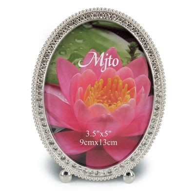 Picture of METAL OVAL PHOTO FRAME with Crystals