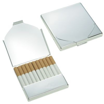 Picture of MAX CIGARETTE CASE in Silver Metal
