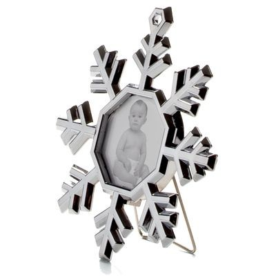Picture of MINI SNOWFLAKE PHOTO FRAME in Silver Metal