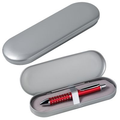 Picture of OVAL SILVER METAL PEN PRESENTATION TIN