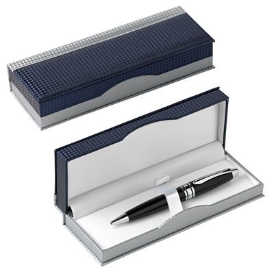 Picture of PEN PRESENTATION BOX in Blue & Silver