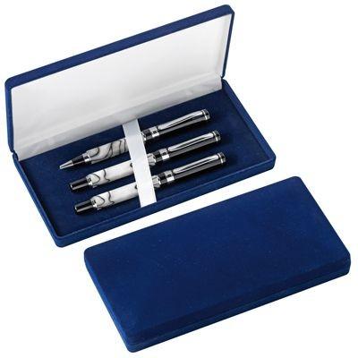 Picture of VELVET PEN PRESENTATION BOX in Blue