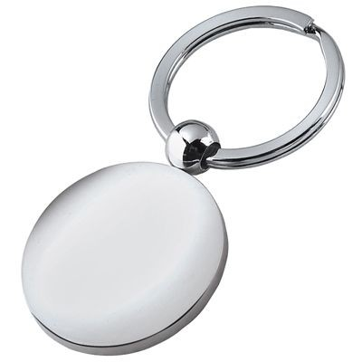 Picture of LARGE ROUND POLISHED METAL KEYRING