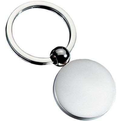 Picture of ROUND BALL SILVER METAL KEYRING