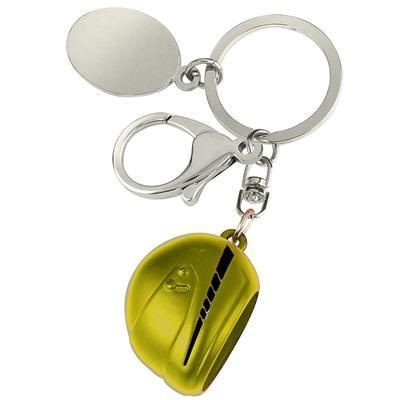 Picture of LARGE MOTOR BICYCLE HELMET KEYRING in Yellow