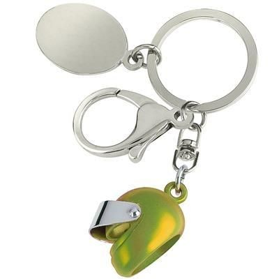 Picture of SMALL MOTOR BICYCLE HELMET KEYRING in Yellow