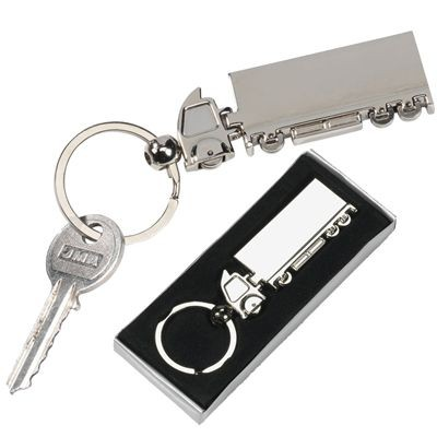 Picture of LORRY TRUCK SILVER METAL KEYRING
