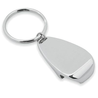 Picture of SILVER CHROME METAL KEYRING AND BOTTLE OPENER