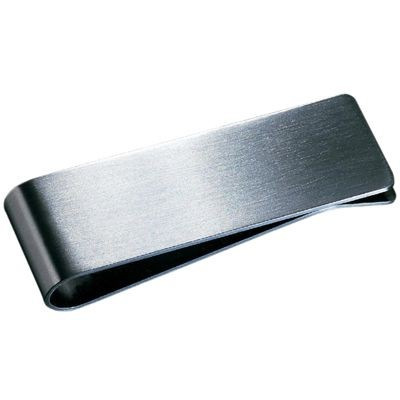 Picture of MONEY CLIP in Silver Stainless Steel Metal Matt Silver Finish