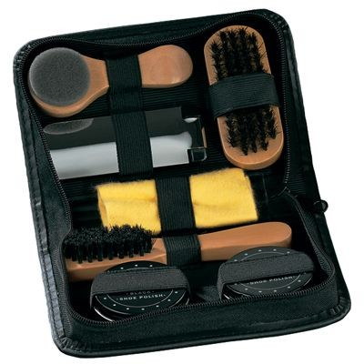 Picture of SHOE CLEANING KIT in Black Luxury Case with Zip