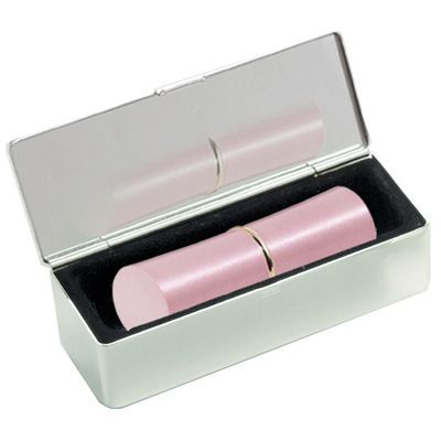 Picture of KAREN LIPSTICK HOLDER in Silver Metal with Mirror