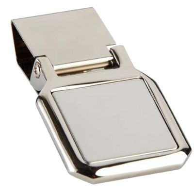 Picture of CLIPPER MONEY CLIP in Silver Chrome Metal with Satin Inlay