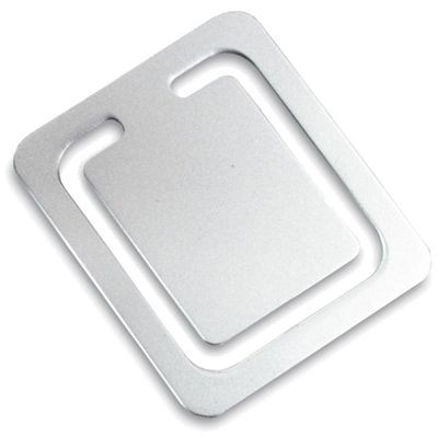 Picture of SQUARE SILVER METAL CLIP BOOKMARK