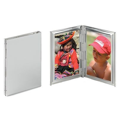 Picture of FINE SILVER PLATED METAL DOUBLE PHOTO FRAME