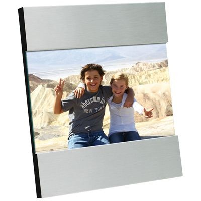 Picture of BRUSHED FINISH SILVER METAL PHOTO FRAME