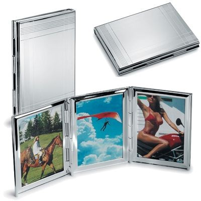 Picture of SILVER PLATED METAL TRIPLE PHOTO FRAME MOUNT