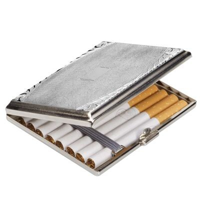 Picture of CENTRE DESIGN SILVER CHROME METAL CIGARETTE CASE