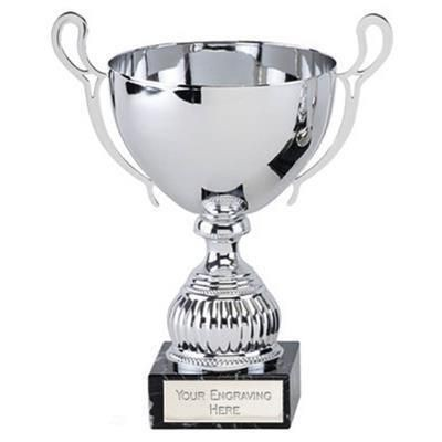 Picture of SILVER AWARD TROPHY CUP with Marble Base