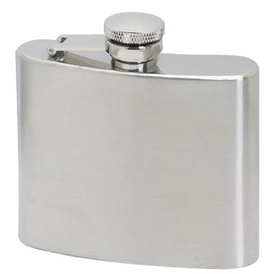 Picture of 5OZ SILVER STAINLESS STEEL METAL HIP FLASK