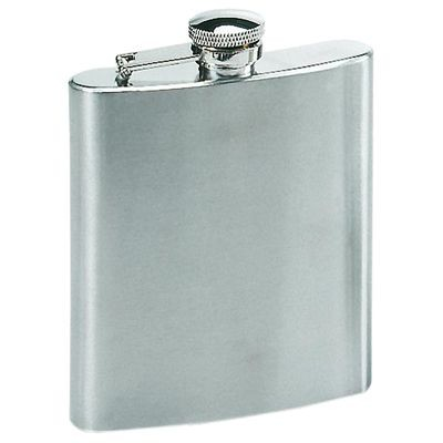 Picture of 8OZ SILVER STAINLESS STEEL METAL HIP FLASK