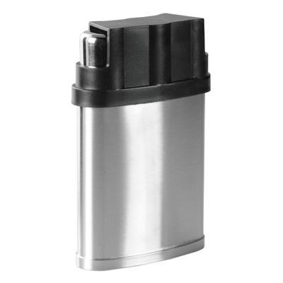 Picture of 7OZ SILVER STAINLESS STEEL METAL HIP FLASK with 3 Cup in Cover