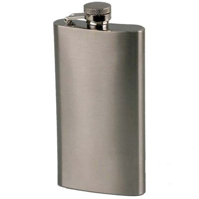 Picture of 5OZ TALL SLIM SILVER STAINLESS STEEL METAL HIP FLASK