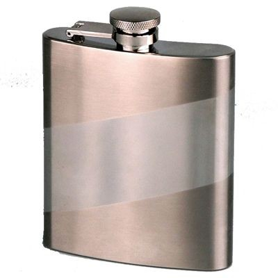 Picture of 8OZ SASH SILVER STAINLESS STEEL METAL HIP FLASK