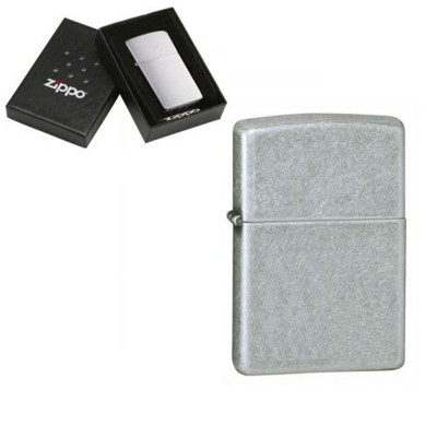Picture of GENUINE ZIPPO LIGHTER in Antique Silver Plated Metal