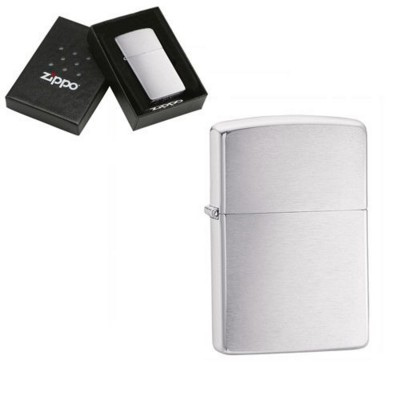 Picture of GENUINE ZIPPO LIGHTER in Brushed Silver Chrome