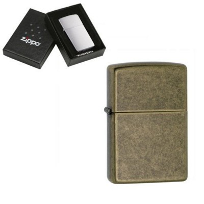 Picture of GENUINE ZIPPO LIGHTER in Antique Brass