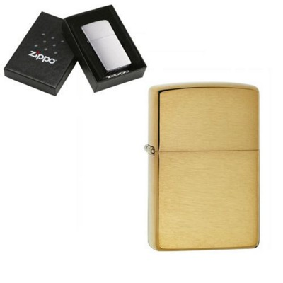 Picture of GENUINE ZIPPO LIGHTER in Brushed Brass Finish