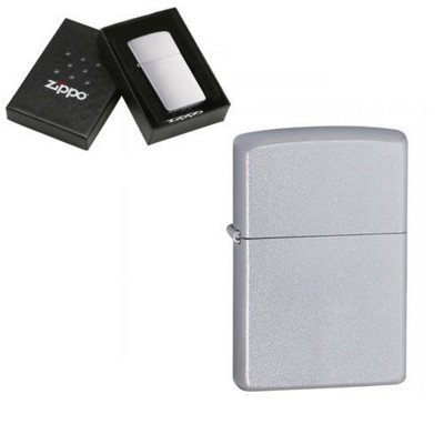 Picture of GENUINE ZIPPO LIGHTER in Satin Silver Chrome