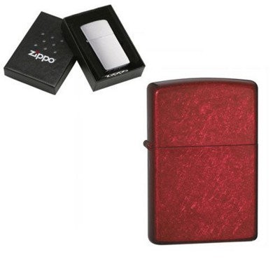 Picture of GENUINE ZIPPO LIGHTER in Candy Apple Red Finish