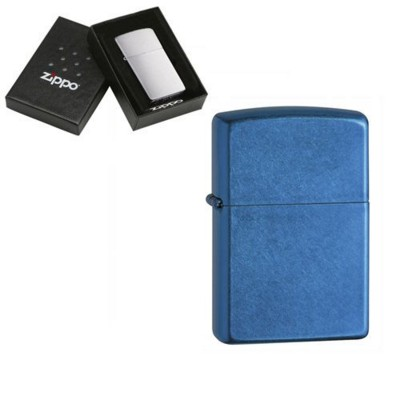 Picture of GENUINE ZIPPO LIGHTER in Cerulean Blue Finish