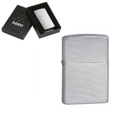 Picture of GENUINE ZIPPO LIGHTER in Silver Chrome Arch Brushed Finish