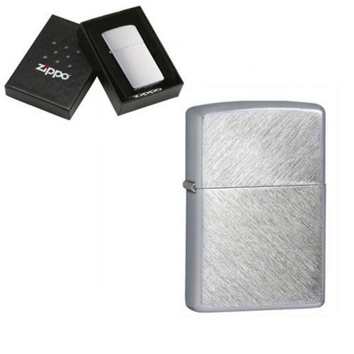 Picture of GENUINE ZIPPO LIGHTER in Silver Chrome Herringbone Sweep Brushed Finish