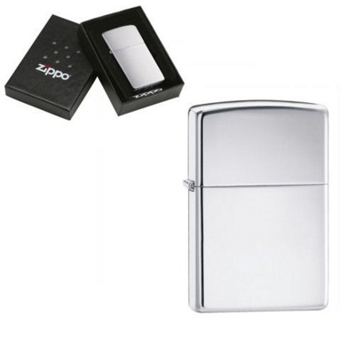 Picture of GENUINE ZIPPO LIGHTER in High Polished Silver Chrome