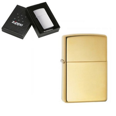 Picture of GENUINE ZIPPO LIGHTER in High Polish Brass