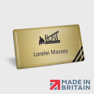 Picture of MAGNETIC NAME BADGE METAL DOMED