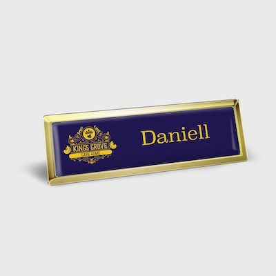 Picture of MAGNETIC NAME BADGE METAL FRAME DOMED