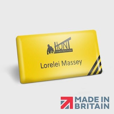 Picture of MAGNETIC NAME BADGE PLASTIC DOMED
