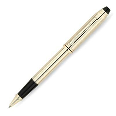Picture of CROSS TOWNSEND 10 CARAT GOLD FILLED & ROLLED GOLD ROLLERBALL PEN