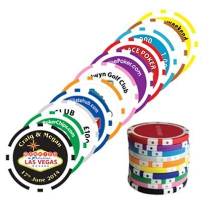 Picture of 8 STRIPE POKER CHIP GOLF MARKER