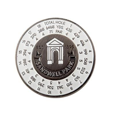 Picture of 44MM - ENAMEL YARDAGE GOLF BALL MARKER