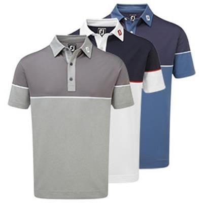 Picture of FOOTJOY COLOUR CUBE BLOCK STRETCH PIQUE