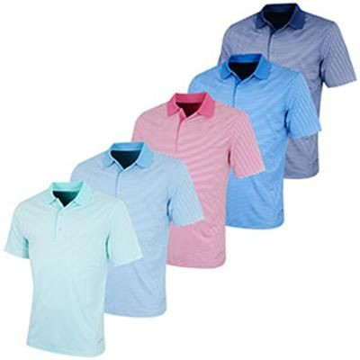 Picture of GREG NORMAN PERFORMANCE BAR STRIPE POLO SHIRT