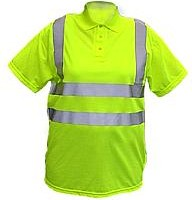 Picture of HIGH VISIBILITY DOUBLE BAND SAFETY POLO SHIRT in Yellow