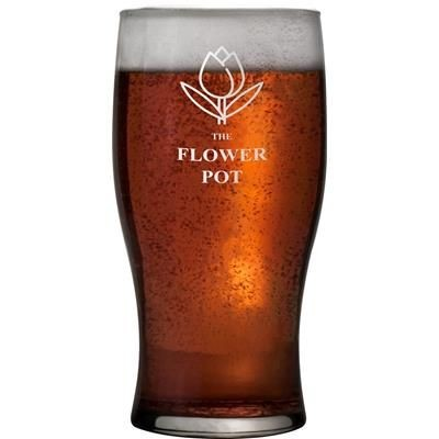 Picture of TULIP SHAPE PINT BEER GLASS
